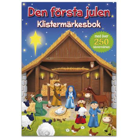 Klistermärkesbok - Den första Julen