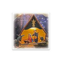 Dubbelt julkort - Silla natt