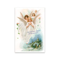 Dubbelt julkort - Ära vare Gud
