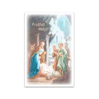 Dubbelt julkort - Fridfull Helg