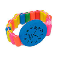 Armbandsklocka i trä - Blå