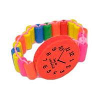 Armbandsklocka i trä - Röd