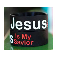 Silikonarmband - Jesus is my savior