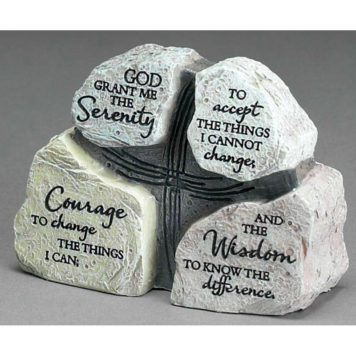 Bordsdekoration - Serenity prayer