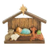 Julkrubba - Jesusbarnet och djuren