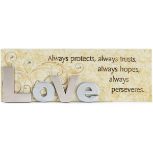 Bordstavla - Love always protects