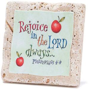 Bordstavla - Rejoice in the Lord
