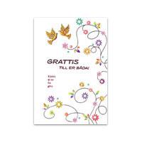 grattis till konfirmationen Dubbelt kort   Grattis till er båda – Bornelings grattis till konfirmationen