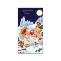 Dubbelt julkort - Jul jul strålande