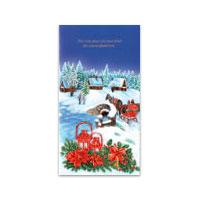Dubbelt julkort - Och över stad