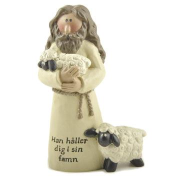 Jesus med lamm - Han håller dig i sin famn