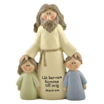 Jesus med 2 barn - Låt barnen komma