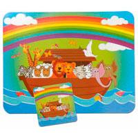 Bords- och glasunderlägg - Noas ark