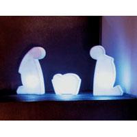 Julkrubba med LED-ljus