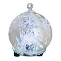 Glasglob med krubba - LED-ljus